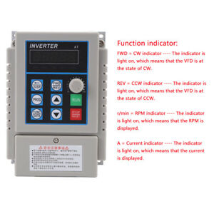 220v 0 75kw Single Phase 3ph Variable Frequency Drive Vfd Speed Controller Stw