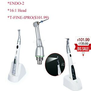 Dental Lab Endo Motor 9 s 16 1 Contra Angle Led handpiece Head