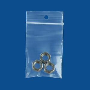 9000 Pcs Zipped Seal Mini Baggies 2 Mil Hang Hole Plastic 2 x8 Bags