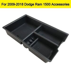Car Center Console Insert Organizer For Dodge Ram1500 2009 2018 Tray Storage Box