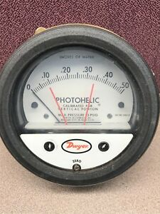 Dwyer 3000 0 Photohelic Pressure Switch gage 0 50 Water 25psi Wpr