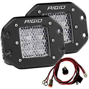 Rigid 212513 D Series Pro Led Lights Pair Of Flush Mount Dually Diffused Lens
