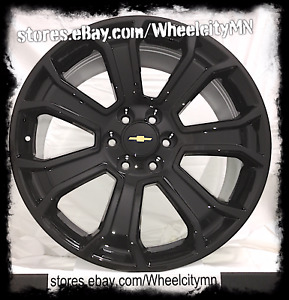 20 Inch Gloss Black 2015 Oe Factory Replica Wheels Rim Chevrolet Tahoe Ltz 6x5 5
