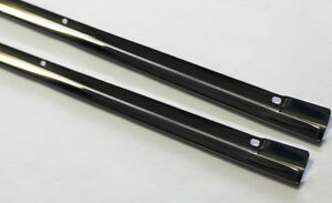 New 1960 1965 Ford Falcon Lower Door Panel Trim Stainless Steel Left Right Pair