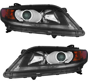 Headlights Headlight Assembly Pair Set For 2013 2015 Honda Accord Coupe 2 4l