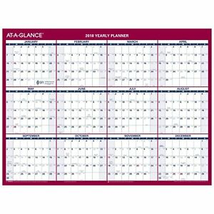At A Glance Yearly Wall Calendar January 2018 December 2018 2 Sided 12 x15 11 16