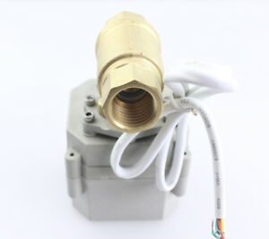 Motorized Ball Valve 3 4 Ac110v 220v Brass Normally Closed 2 Way Cr5 02 From Us