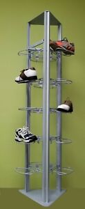 Only Hangers Modern Slat grid Shoe Tower Display