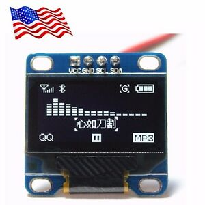 Diymall 0 96 Inch Serial 128x64 Oled Lcd Led White Display Module For Arduino