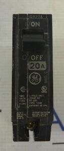 Lot Of 5 General Electric Ge Thqb1120 1 Pole 20 Amp Circuit Breakers