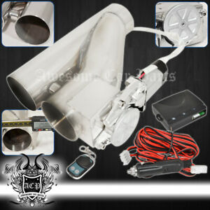 For Jeep 2 5 75mm Remote Electric Exhaust Catback Downpipe Cutout E Cut System