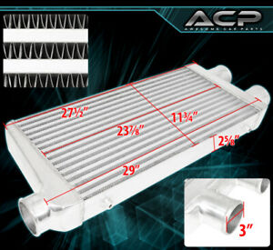 Universal Front Mount Intercooler Light Weight Air System Bar And Plate 2 Inlet