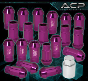 For Subaru 12x1 25 Locking Lug Nuts Truck Suv Exterior 20 Pcs Wheels Kit Purple