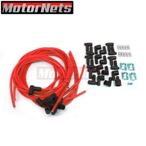 8 5mm Red 90 Spark Plug Wires Distributor Hei Chevy Bbc Sbc Sbf 302 350 454 383