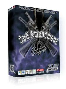 2nd Amendment Gun Firearm Sayings Vector Clip Art For Vinyl Sign Plotter Rifle