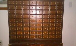 Chinese Apothecary Chest Early 1900s Solid Wood Beautiful Excellent Cond