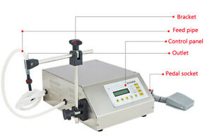 110v 220v Automatic Liquid Filling Machine Self Prime Pump Bottle Digtal Control