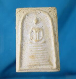 Tiny Old Phra Somdej Luang Phor Wat Paknam Thai Amulet Magical Buddha Luck White