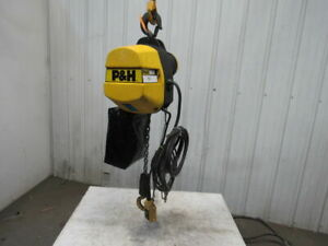 P H Redi lift 1 Ton Electric Chain Hoist 2000 Lb 17 6 Lift 460v