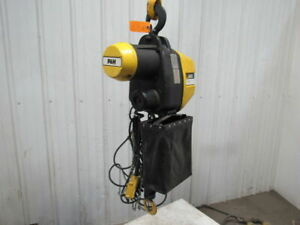 P H Redi lift 1 Ton Electric Chain Hoist 2000 Lb 23 Lift 460v