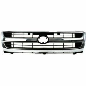 New To1200205 Grille Chrome Shell W Black Insert For Toyota Tacoma 1997 2000