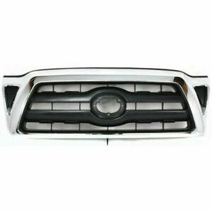 New To1200268 Chromed Shell Black Insert Grille For Toyota Tacoma 2005 2008