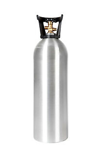 20 Lb New Aluminum Co2 Tank With Handle Cga320 Valve Homebrew Free Shipping