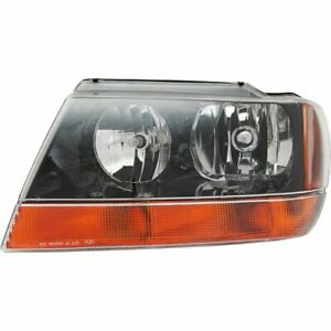 New Ch2502121 Left Side Headlight For Jeep Grand Cherokee 1999 2004