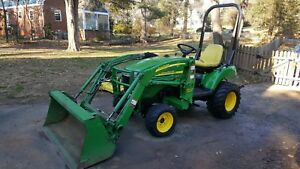 2006 John Deere 2305 4x4 With Loader And Mid mount Mower