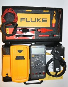 Fluke 88v Automotive Multimeter Combo Kit Usa Made tested near Mint 12 h Ship