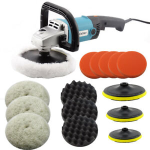 Electric Car Polisher Buffer Sander Waxer Kit Variable 6 speed 7 1400w
