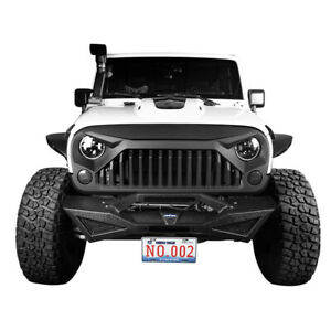 Front Angry Bird Grille Painted W7 White Black For 2007 2018 Jeep Wrangler Jk