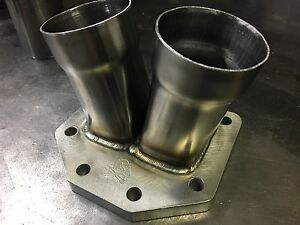 Borg Warner T6 Turbo Collector Mild Steel W Support Tab 2 2 5 Slip Fit