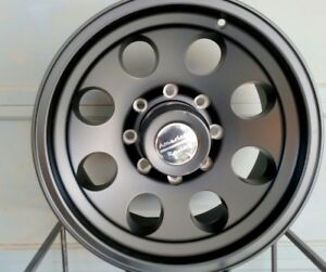 17x8 Black Bajas Genuine American Racing 8 Lug Ford Chevy Dodge 8x6 5