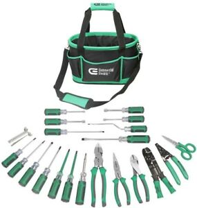 22 piece Commercial Electric Electricians Tool Set Screwdriver Plier Hand Tools