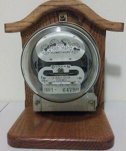 Duncan Vintage Electric Home Meter Watt Kilowatt Hours Table Lamp 301 64799