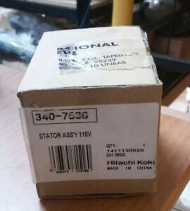 Hitachi 340 753c Stator Ass y 110v For Hammer Drill Dh 38ss
