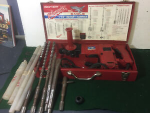 Milwaukee Rotary Hammer 1 1 2 5352 With Metal Case And 5 Bits
