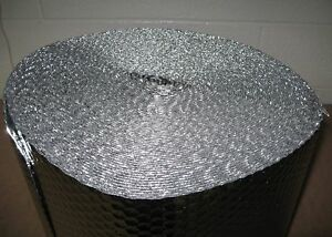 Insulated Metalized Double Bubble Roll Foil Wrap 16 48 x125ft Vapor Barrier