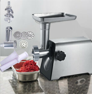 110v 2800w New Electric Meat Grinder Commercial Industrial Meat Grinder Steel Us