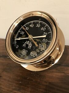 Ashcroft Engine Oil Duplex Dual Inlet Gauge Steampunk Shined 5