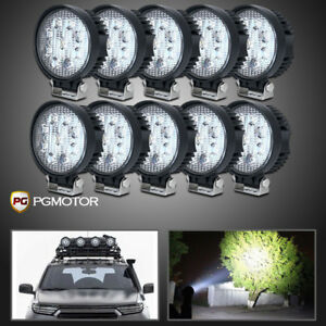 10x 4inch 27w Spot Round Led Work Light Offroad Forklift Truck Atv Tractor Jeep