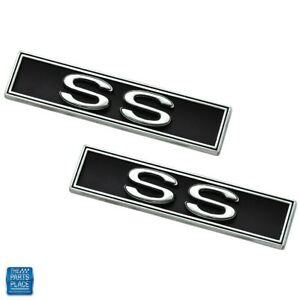 1970 72 Chevelle Interior Door Panel Emblem ss Pair