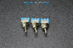 3 Pcs Toggle Switch Spst On Off Mini Toggle 3 Amp 250v 6 Amp 125v 2 Pin Ec 2510