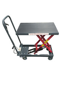 Pake Handling Tools Hydraulic Manual Scissor Lift Table 1000lbs