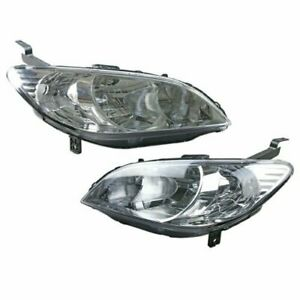 1 Set Chrome Housing Headlight Lamp For Honda Civic Ex Dx Lx Hx Vp Si 2004 05
