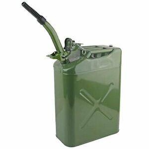 Nato Style 20l Steel Jerry Can W Flexible Spout Army Military Fuel Petrol Tank