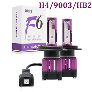 H4 Hb2 9003 4 Side Led Headlight Conversion Kit 2300w 295000lm High Lo Beam Bulb