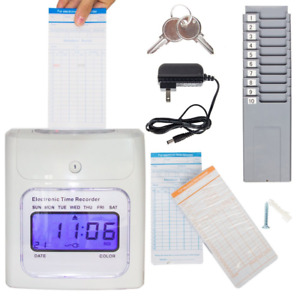 Chivasing Grey Punch Card Machine With Keys Ribbon 100cards And Two 10slot Card