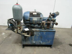 75 Gal Hydraulic Power Unit 15hp 460v W accumulator Vickers Pump